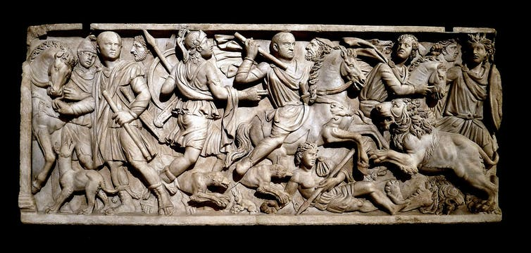 Sarcophage avec une chasse aux lions.